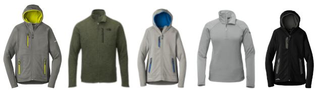 Variety of fleece jackets