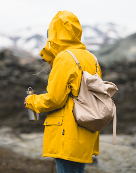 Person in yellow jacket